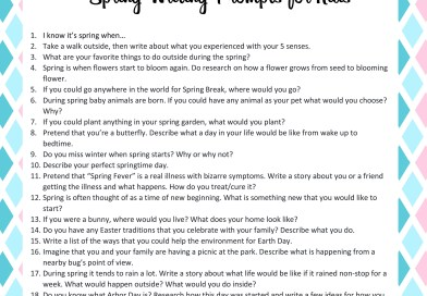 20 Spring Writing Prompts for Kids