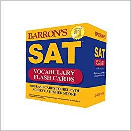Barron's New SAT Vocabulary Flashcards (Best SAT Prep Books)