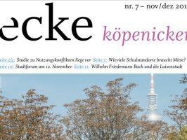 Stadtteilzeitung ecke köpenicker Nr 7 Nov Dez 2018