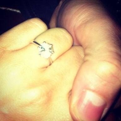 Gemma Massey engagement ring