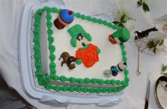 a special, non-traditional wedding cake