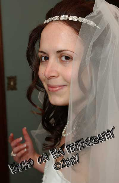 Kozeta before her wedding...