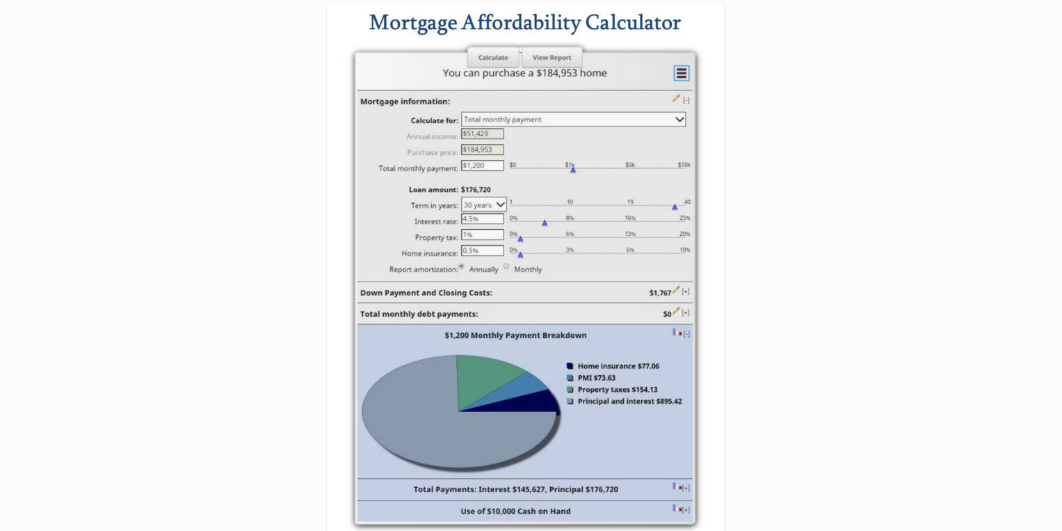 how much home can i afford  mortgage affordability calculator