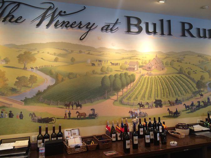 the winery at Bull Run is a fun Washington DC day trip