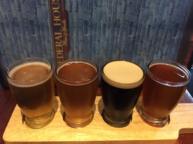 5 fun places to eat in Annapolis: Beer flight Federal House