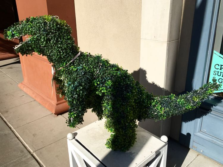 things to see in Napa California: dinosaur hedge