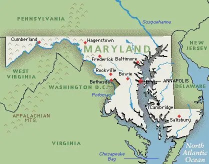 Hagerstown MD map