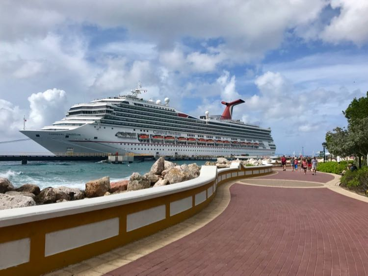 Carnival Cruise Tips: The Carnival Freedom in Curacao