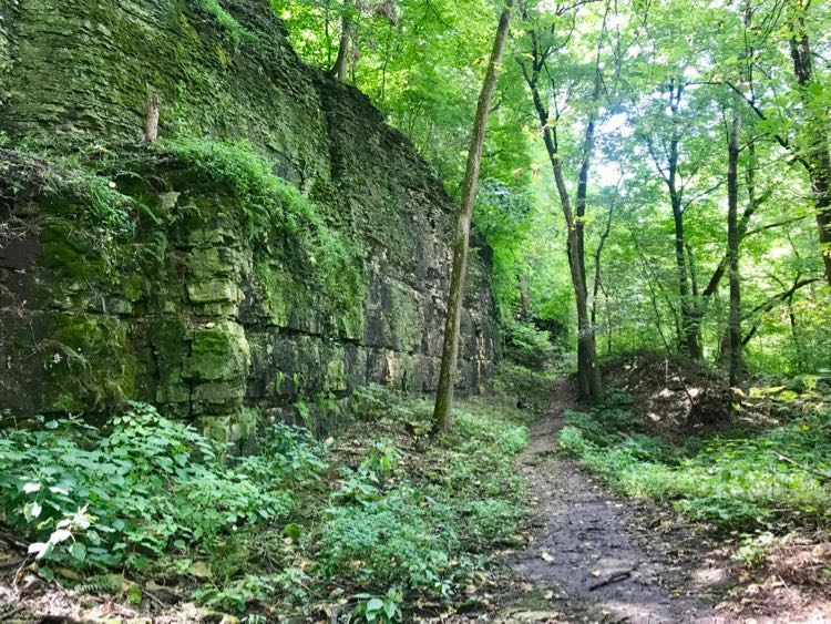 Devil's Staircase on the Ice Age Trail in Janesville WI