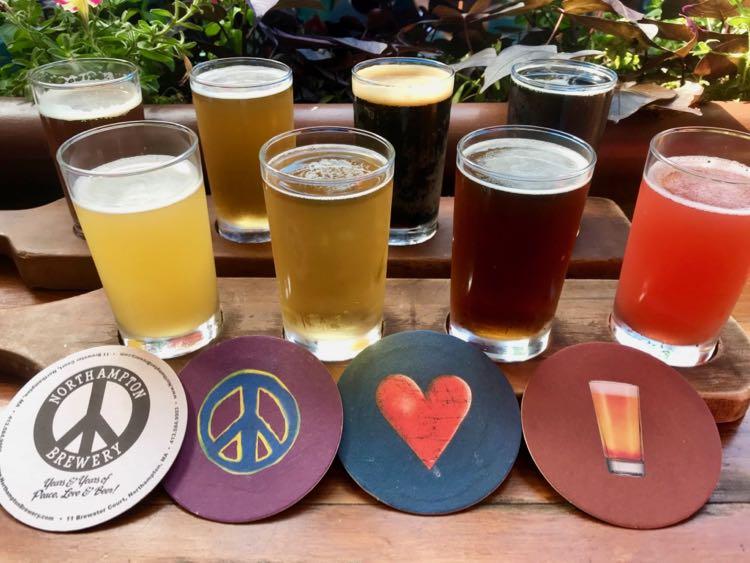 Northampton Brewery beer flight