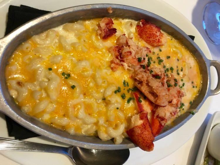 lobster mac and cheese at Ruth's Chris at Margaritaville Tulsa