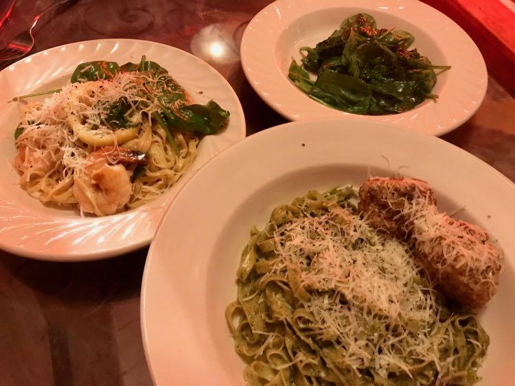 Dinner at Viva Pasta Company in Northampton MA