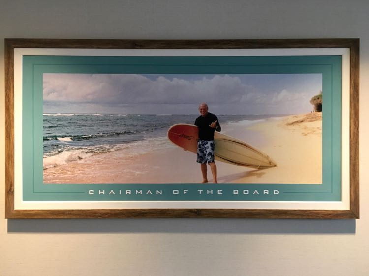 Margaritaville Resort Gatlinburg, Jimmy Buffett pic as Chairman of the Board