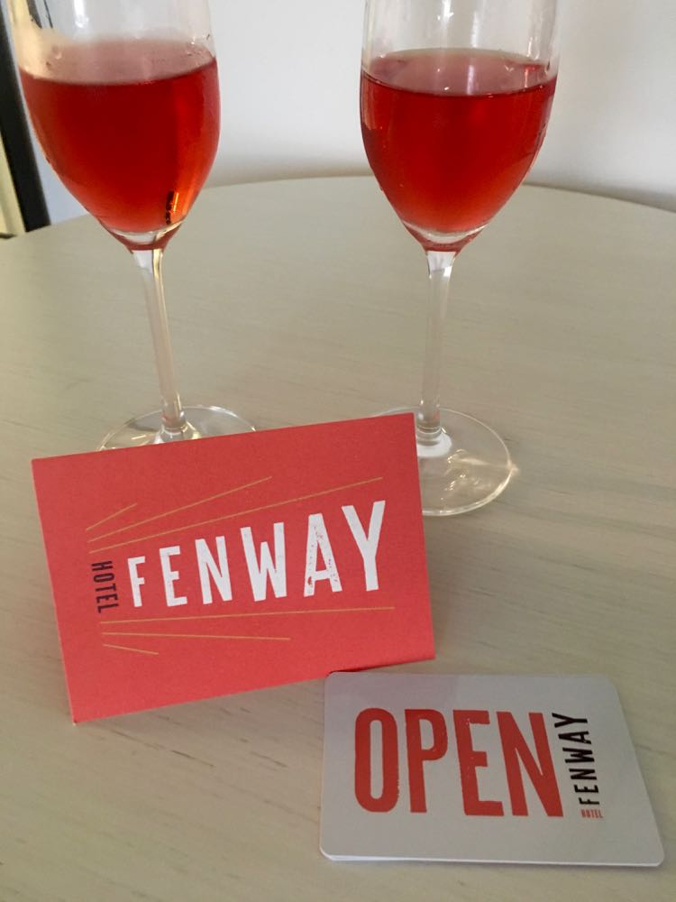 welcome cocktail at Fenway Hotel in Dunedin Florida