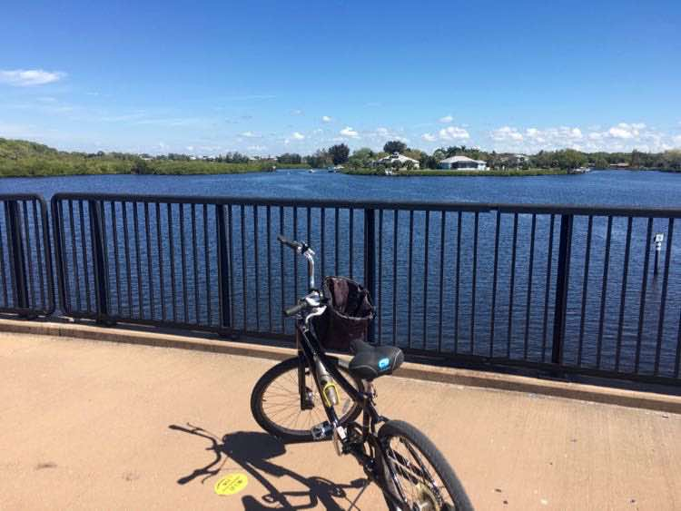bike riding Legacy Trail in Sarasota