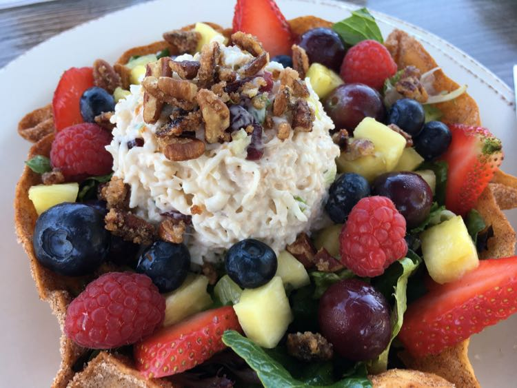 crab berry salad at Farlows on the Water in Englewood Florida