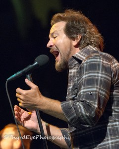 Pearl Jam's Eddie Vedder performing at Scottrade Center