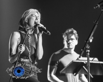 Phantogram performing at the Peabody Opera House in Saint Louis pic by Sean Derrick/Thyrd Eye Photography.