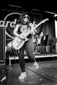 Bad Cop Bad Cop performing Wednesday in Saint Louis for Vans Warped Tour. Photo by Ryan Ledesma.