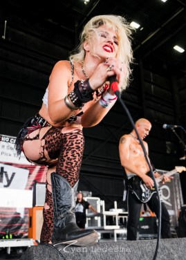 Barb Wire Dolls performing Wednesday in Saint Louis for Vans Warped Tour. Photo by Ryan Ledesma.