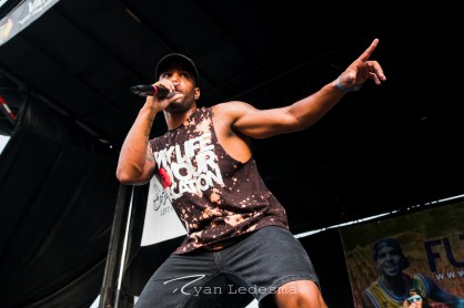 Futuristic performing Wednesday in Saint Louis for Vans Warped Tour. Photo by Ryan Ledesma.