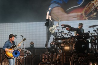 Nickelback performing at Hollywood Casino Amphitheatre in Saint Louis. Photo by Sean Derrick/Thyrd Eye Photography.