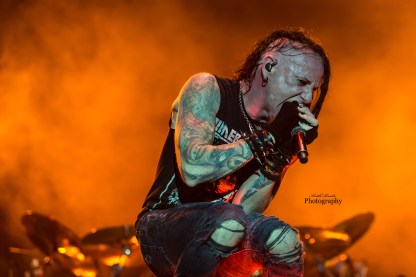Chad Grey of Hellyeah at Moonstock 2017. Photo by Keith Brake Photography.