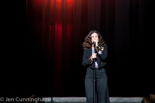 Idina Menzel performing at the Fabulous Fox Theatre in Saint Louis. Photo by Jen Cunningham.