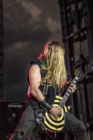 Zakk Wylde with Ozzy Osbourne performing at Moonstock 2017. Photo by Keith Brake Photography.