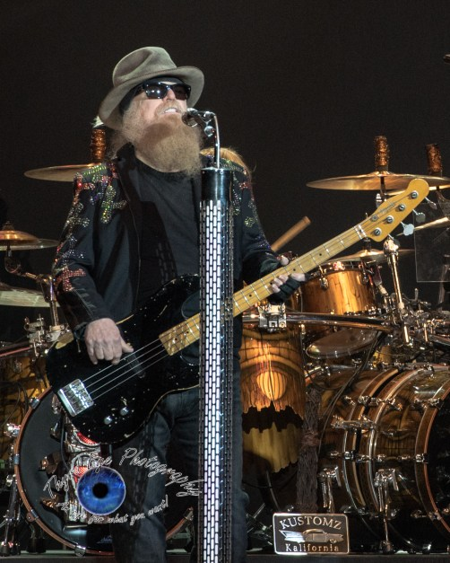 Dusty Hill of ZZ Top performing St. Louis in 2017. Photo by Sean Derrick/Thyrd Eye Photography.