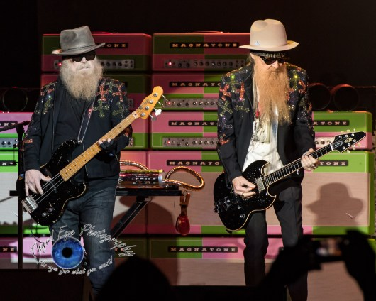 ZZ Top perform at the KSHE 95 50th Birthday Party at Hollywood Casino Amphitheatre in Saint Louis in 2017. Photo by Sean Derrick/Thyrd Eye Photography.