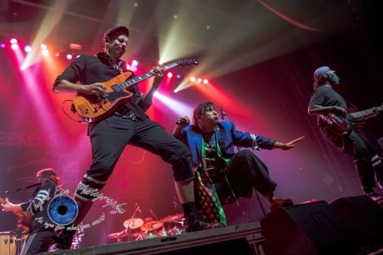 Boris Pelekh and Pedro Erazo of Gogol Bordello performing at The Pageant in Saint Louis Wednesday. Photo by Sean Derrick/Thyrd Eye Photography.
