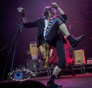 Eugene Hütz of Gogol Bordello performing at The Pageant in Saint Louis Wednesday. Photo by Sean Derrick/Thyrd Eye Photography.
