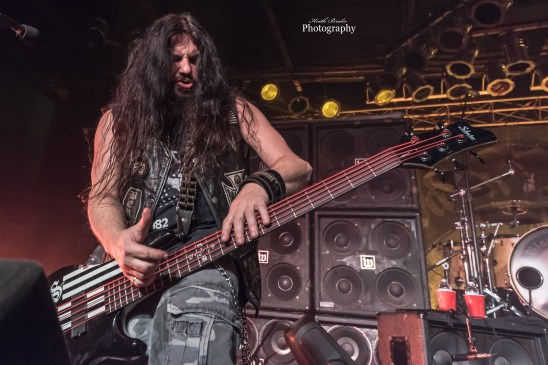 John DeServio of Black Label Society performing a New Years Eve show by Saint Louis Sunday at Pop's. Photo by Keith Brake Photography.