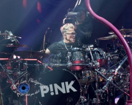 Mark Schulman performing with P!nk at Scottrade Center in Saint Louis Wednesday. Photo by Sean Derrick/Thyrd Eye Photography.
