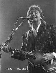 Paul McCartney performing at Busch Stadium in Saint Louis April 29, 1993. Photo by Sean Derrick/Thryd Eye Photography.