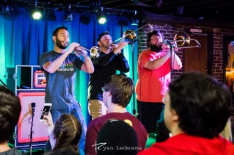 Stacked Like Pancakes performing in The Duckroom at Bueberry Hill in Saint Louis. Photo by Ryan Ledesma.