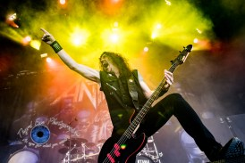 Anthrax performing in Saint Louis at Hollywood Casino Amphitheatre. Photo by Sean Derrick/Thyrd Eye Photography.