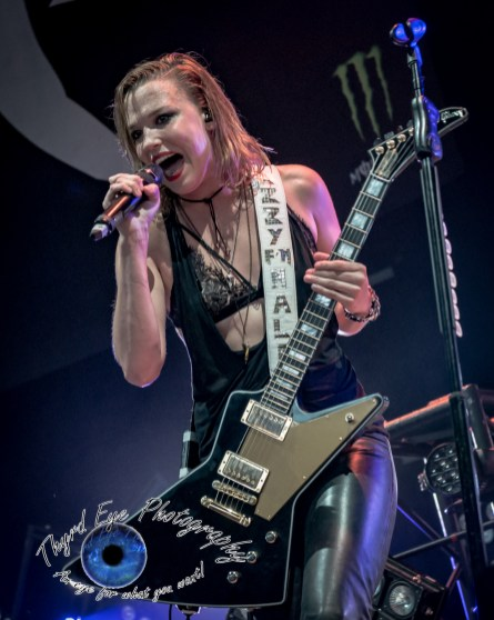 Halestorm performing in Saint Louis in 2016. They will return November 29 at the Stifel Theatre with In This Moment. Photo by Sean Derrick/Thyrd Eye Photography.