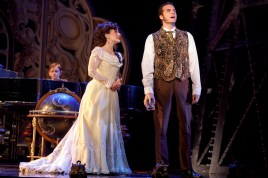 "Jake Heston Miller (""Gustave""), Meghan Picerno (""Christine Daaé"") and Sean Thompson (""Raoul, Vicomte de Chagny"") star in Love Never Dies. Photo: Joan Marcus."