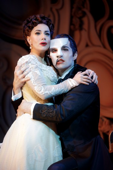 "Meghan Picerno (""Christine Daaé"") and Bronson Norris Murphy (""The Phantom"") star in Love Never Dies. Photo: Joan Marcus."