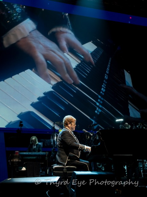 Sir Elton John performing for the final time in Saint Louis at the Enterprise Center Tuesday. Photo by Sean Derrick/Thyrd Eye Photography.