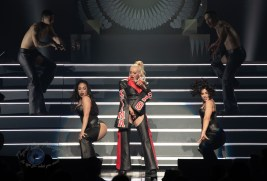 Christina Aguilera performing Tuesday at Stifel Theatre in Saint Louis. Photo by Sean Derrick/Thyrd Eye Photography.