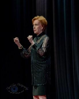 Carol Burnett answering questions at Stifel Theatre in Saint Louis Thursday night. Photo by Sean Derrick/Thyrd Eye Photography.