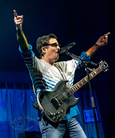 Weezer performing at Enterprise Center in Saint Louis Sunday. Photo by Sean Derrick/Thyrd Eye Photography.