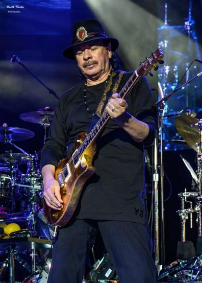 Carlos Santana at the Hollywood Amphitheatre by Keith Brake.