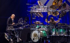 Jordan Rudess and Mike Mangini during Dream Theater's performance Wednesday at Stifel Theater in Saint Louis. Photo by Sean Derrick/Thyrd Eye Photography.