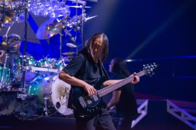 John Myung during Dream Theater's performance Wednesday at Stifel Theater in Saint Louis. Photo by Sean Derrick/Thyrd Eye Photography.