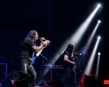 James LaBrie and John Petrucci during Dream Theater's performance Wednesday at Stifel Theater in Saint Louis. Photo by Sean Derrick/Thyrd Eye Photography.
