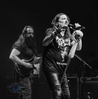James LaBrie and John Petrucci of Dream Theater perform Wednesday at Stifel Theater in Saint Louis. Photo by Sean Derrick/Thyrd Eye Photography.